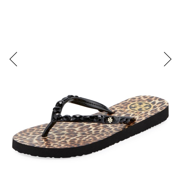 5e2ad1d0d NWT Tory Burch Jeweled Thin Flip-Flop